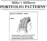 Miller's Millinary #0104 - Mid 1860's Drawn Bonnet