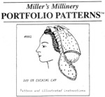 Miller's Millinery #9002 - Mid 1850's - 1860's Day or Evening Cap