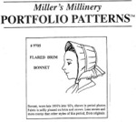 Miller's Millinery #9705 - 1850's to 1860's Flared Brim Bonnet