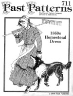 Past Patterns #711 - 1860's Homestead Dress