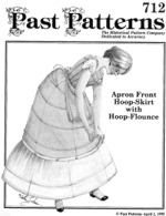 Past Patterns #712 - Apron Front Hoop Skirt with Hoop Flounce