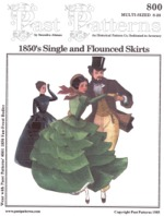Past Patterns #800 - 1850's Single and Flounced Skirts