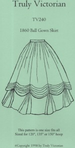 Truly Victorian #240 - 1860 Ball Gown Skirt