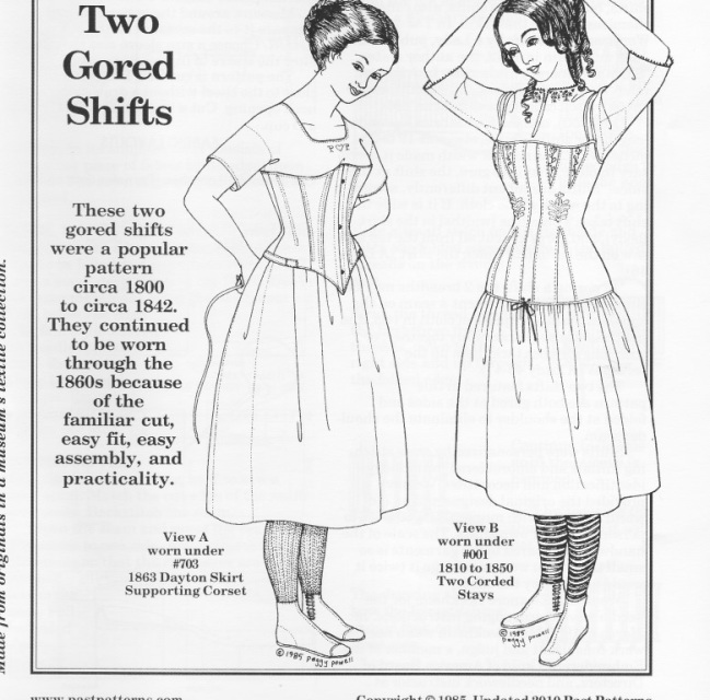 Old Time Patterns Past Patterns 002 Early 19th Century Chemises