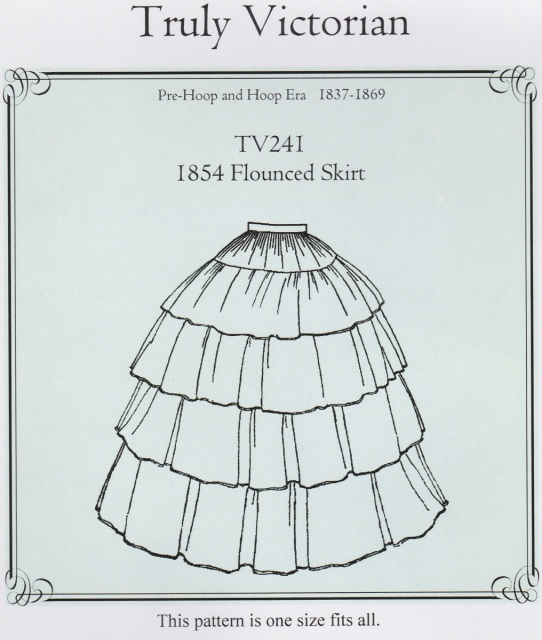 OLD TIME PATTERNS - Truly Victorian #241 - 1854 Flounced Skirt Pattern