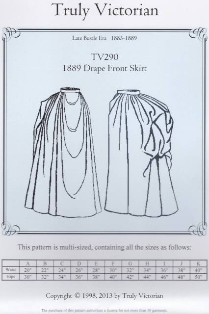 OLD TIME PATTERNS - Truly Victorian #290 - 1889 Drape Front Bustle ...