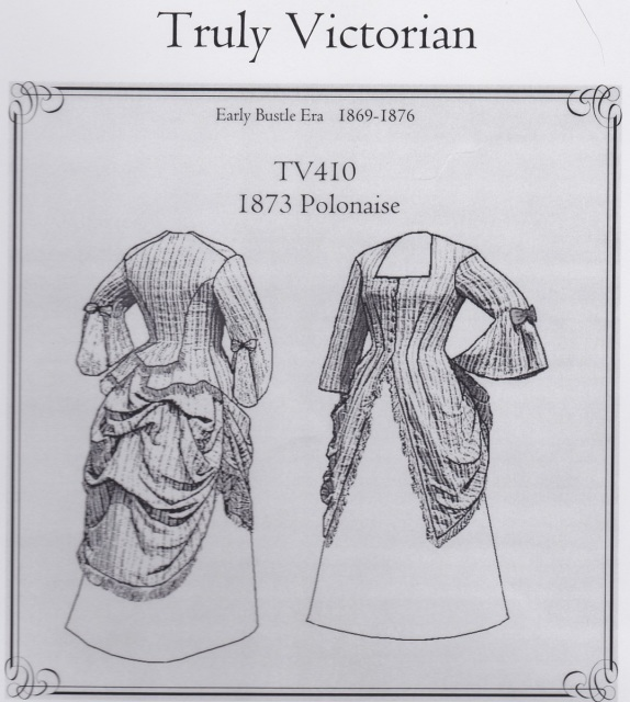 OLD TIME PATTERNS - Truly Victorian #410 - 1873 Polonaise Bodice and ...