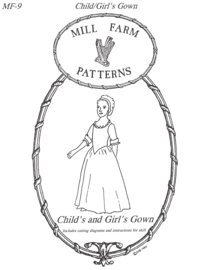 OLD TIME PATTERNS - Mill Farm Pattern #09 - 18th Century Girl\'s ...