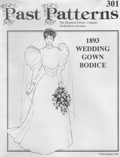 Old Time Patterns Past Patterns 301 1893 Wedding Gown Bodice